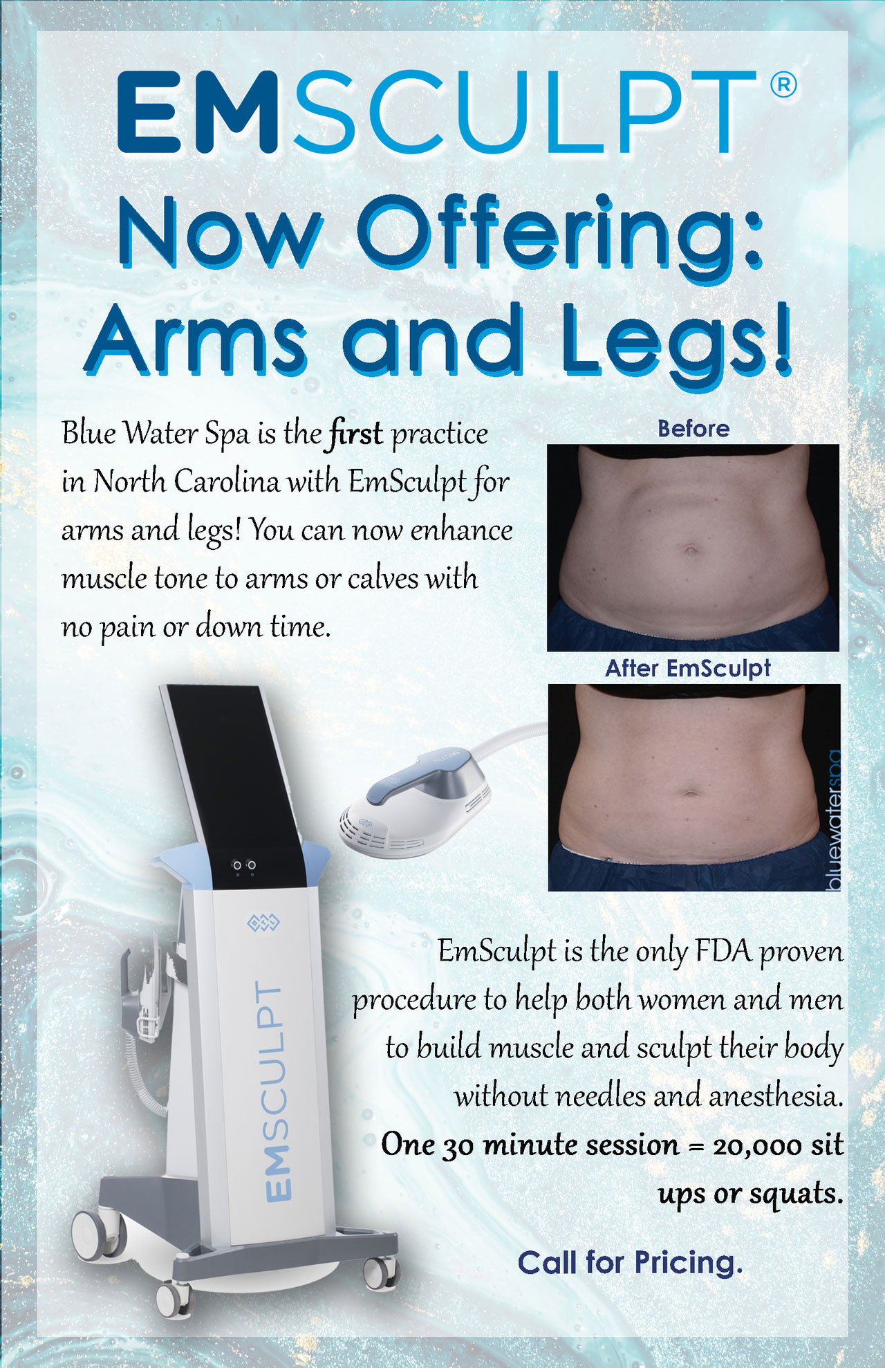 Monthly Specials | Blue Water Spa Aesthetic Laser Center